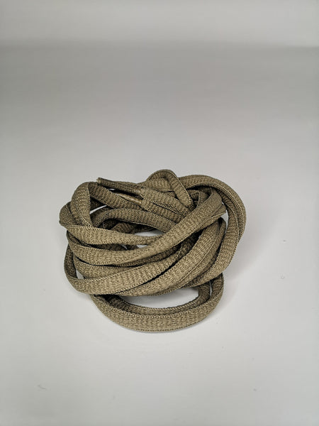 Army Brown Oval Solid Colour Laces