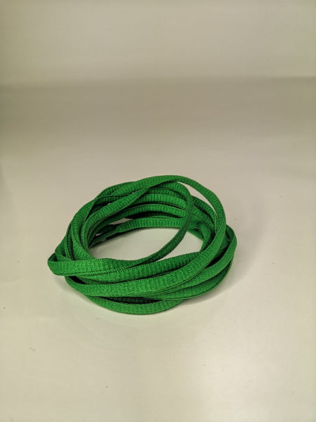 Dark Green Oval Solid Colour Laces