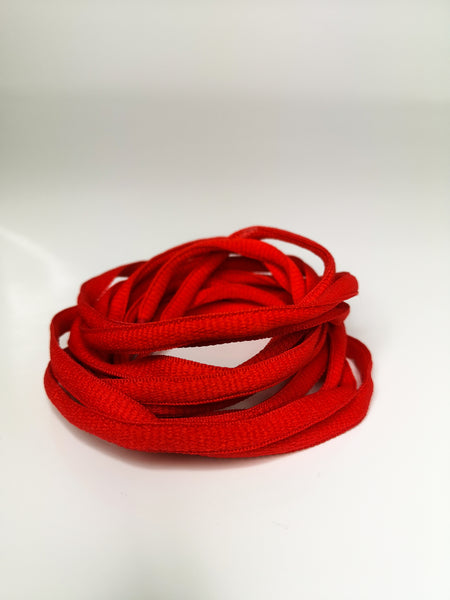Red Oval Solid Colour Laces