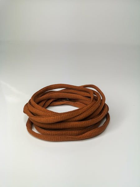 Brown Tan Oval Solid Colour Laces