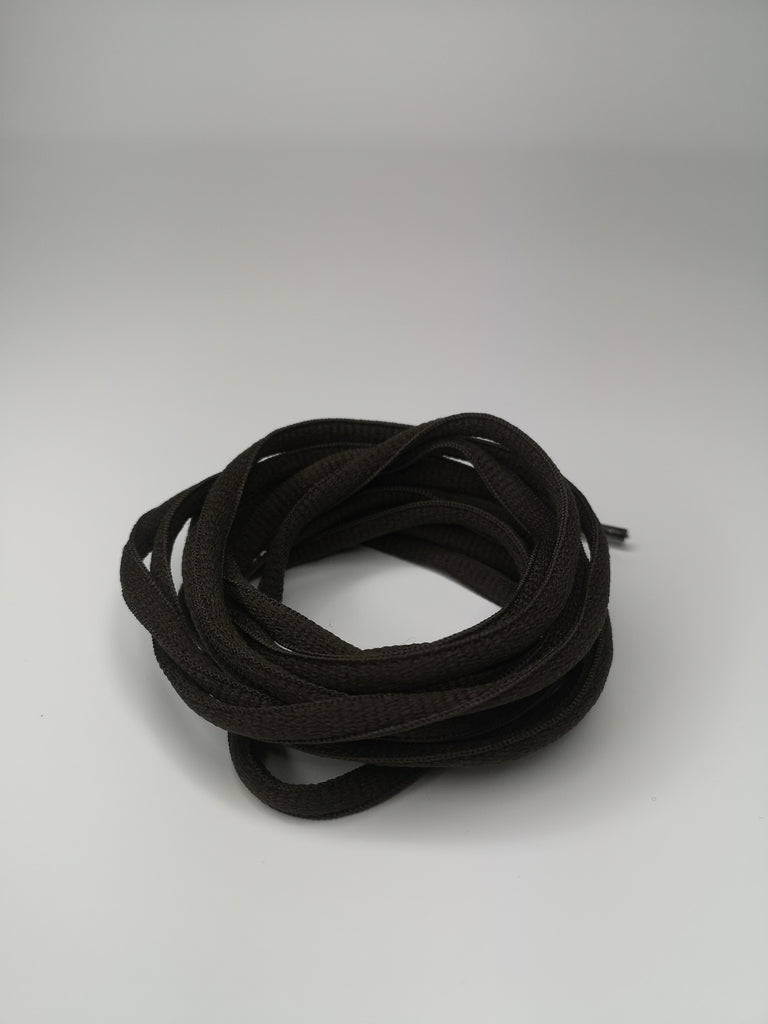 Black Oval Solid Colour Laces