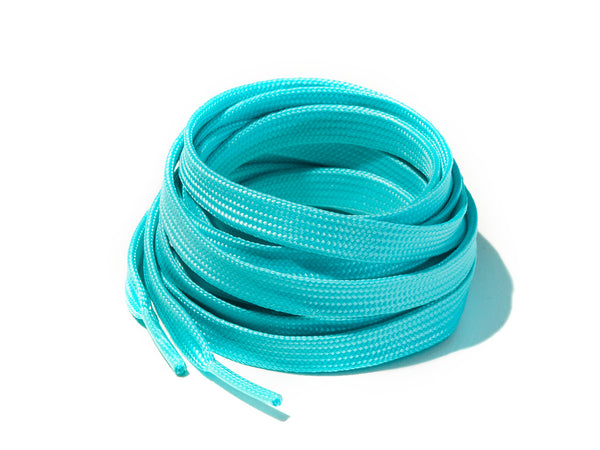 Aqua Blue Glow In The Dark Flat Laces