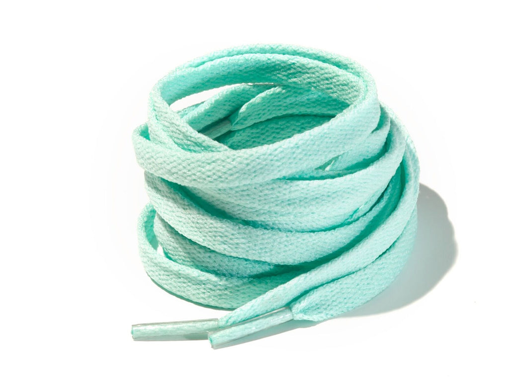 Powder Blue 8mm Flat Solid Colour Laces