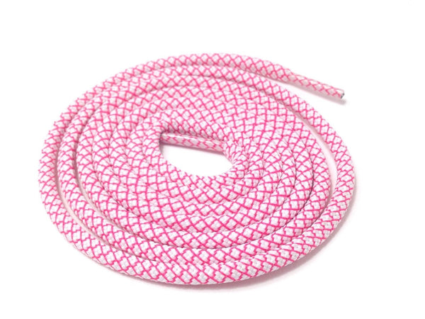 Lace Supply Co White & Pink Rope Laces Dual