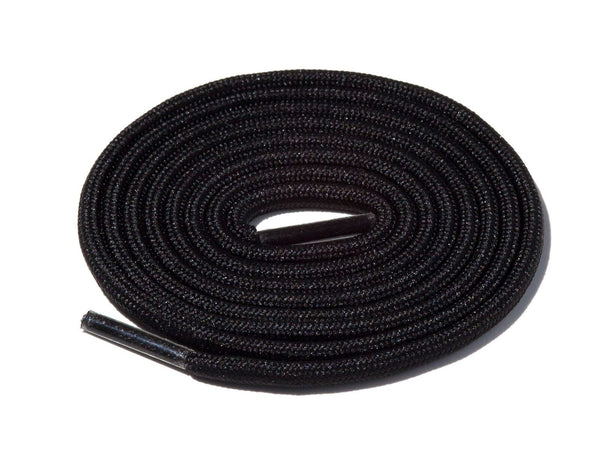 Black Solid Rope Laces Lace Supply Co