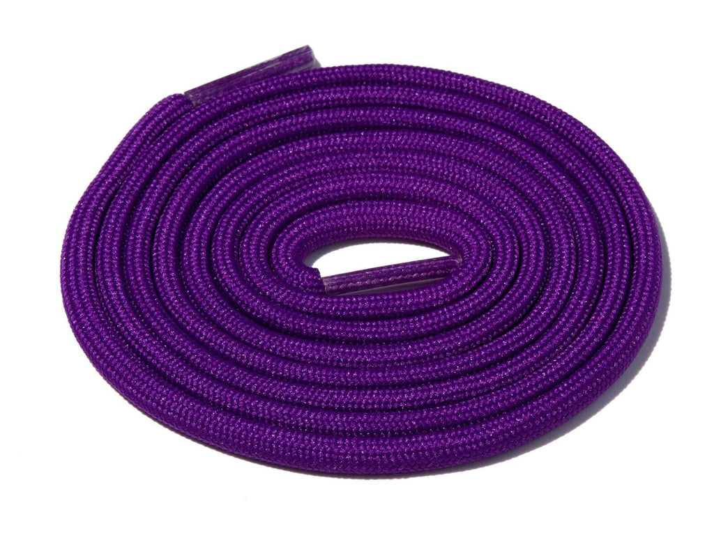 Lace Supply Co Purple Grape Solid Rope Laces
