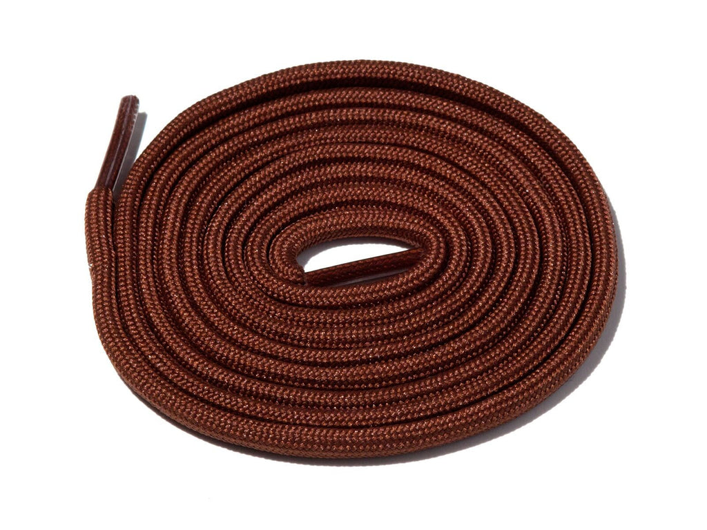 Chocolate Brown Solid Rope Laces Lace Supply Co