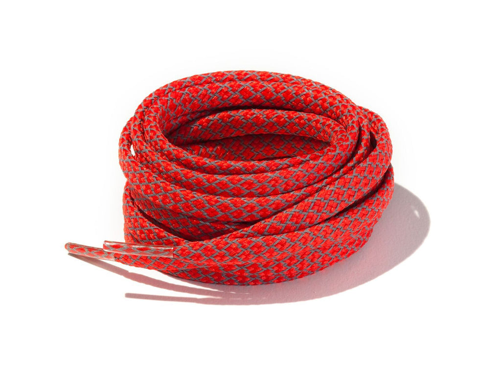 Lace Supply Co Red Fleck 3M Reflective Flat Laces
