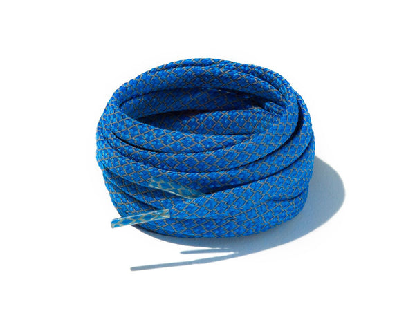 Blue Fleck 3M Reflective Flat Laces Lace Supply Co