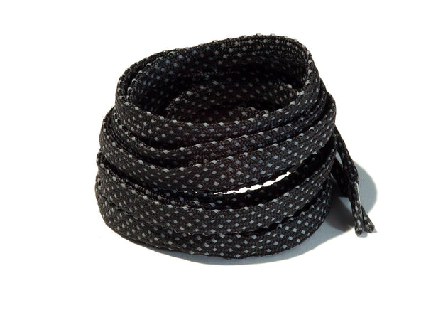 Black Dots 3M Reflective Flat Laces Lace Supply Co