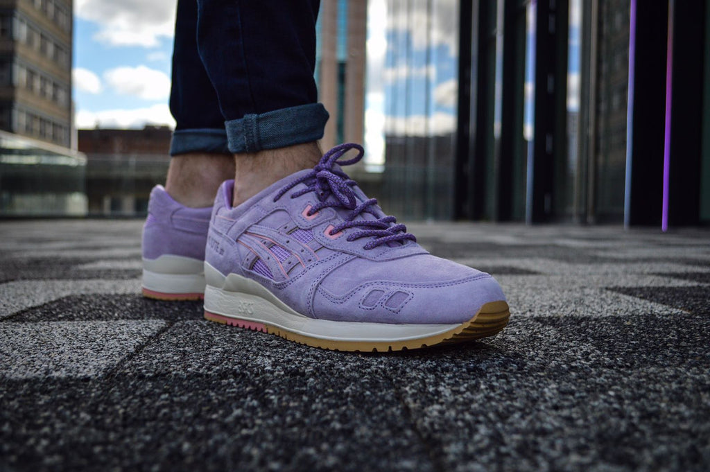 Purple Check 3M Reflective Rope Laces