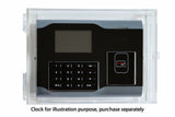Lockable, Perspex Enclosure for Fingerprint & RFID Card Clocks