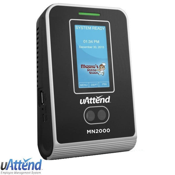uAttend MN2000 Face Scan Web Time Clock