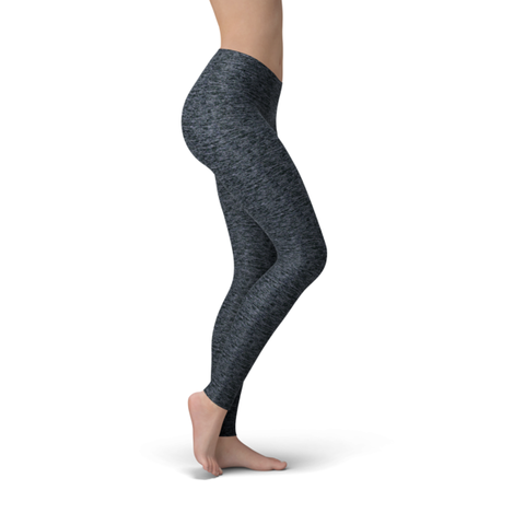 Solid Heather Navy Premium Soft Capris & Leggings