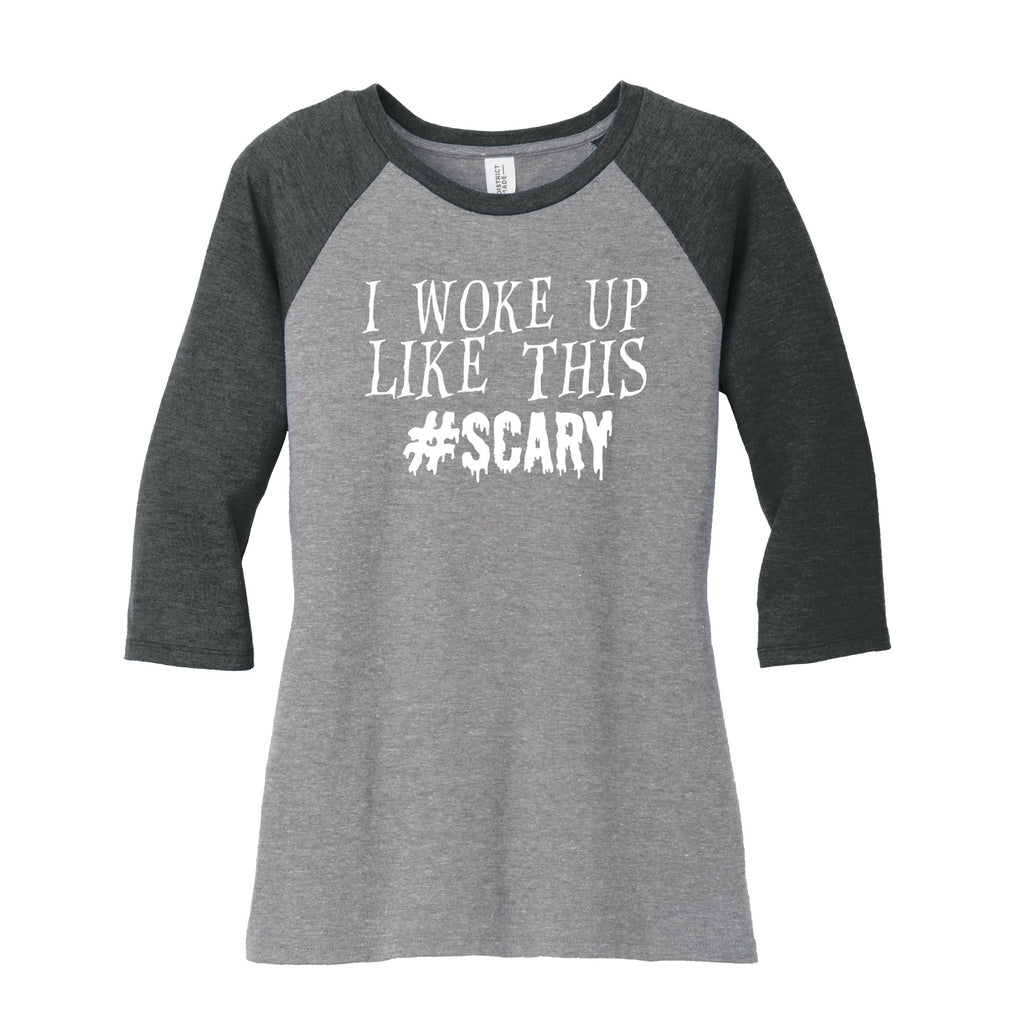 scary halloween 34 sleeve raglan shirt