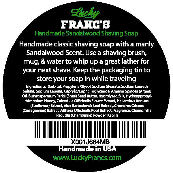 Classic Sandalwood Scented Shave Soap Puck - 4oz