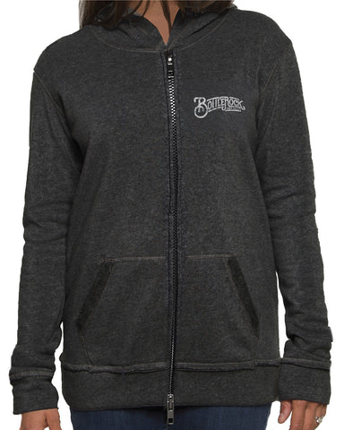 Getting Barreled Women's Fitted Vintage Washed Zipped Hoodie