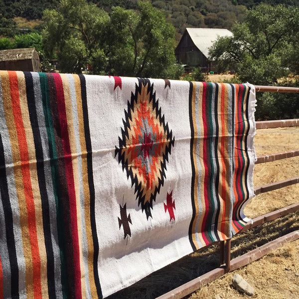 *                  Earthy Southwest Diamond Blanket