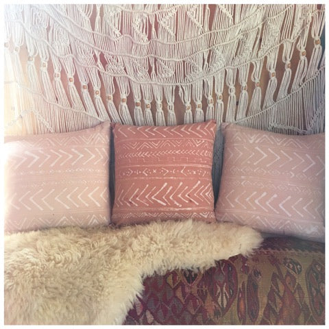 *            Neutral Mud Cloth Inspired Pillows