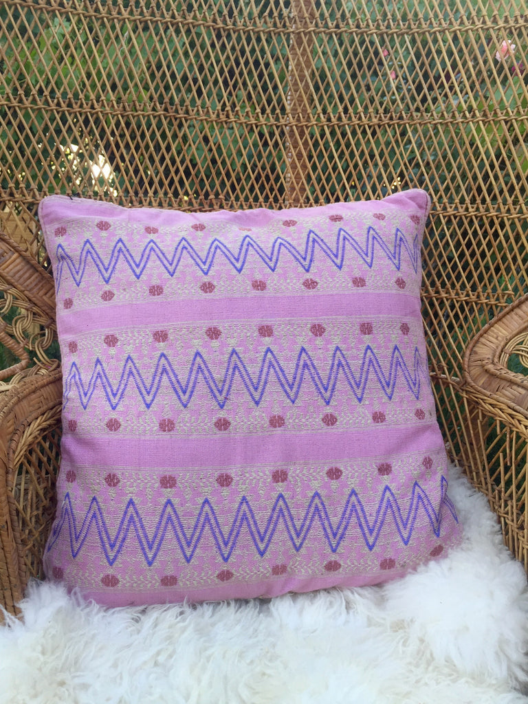 Pink Guatemalan Pillow