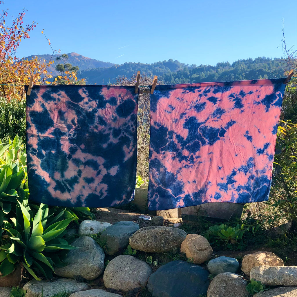 Naturally Dyed Silk Scarfs