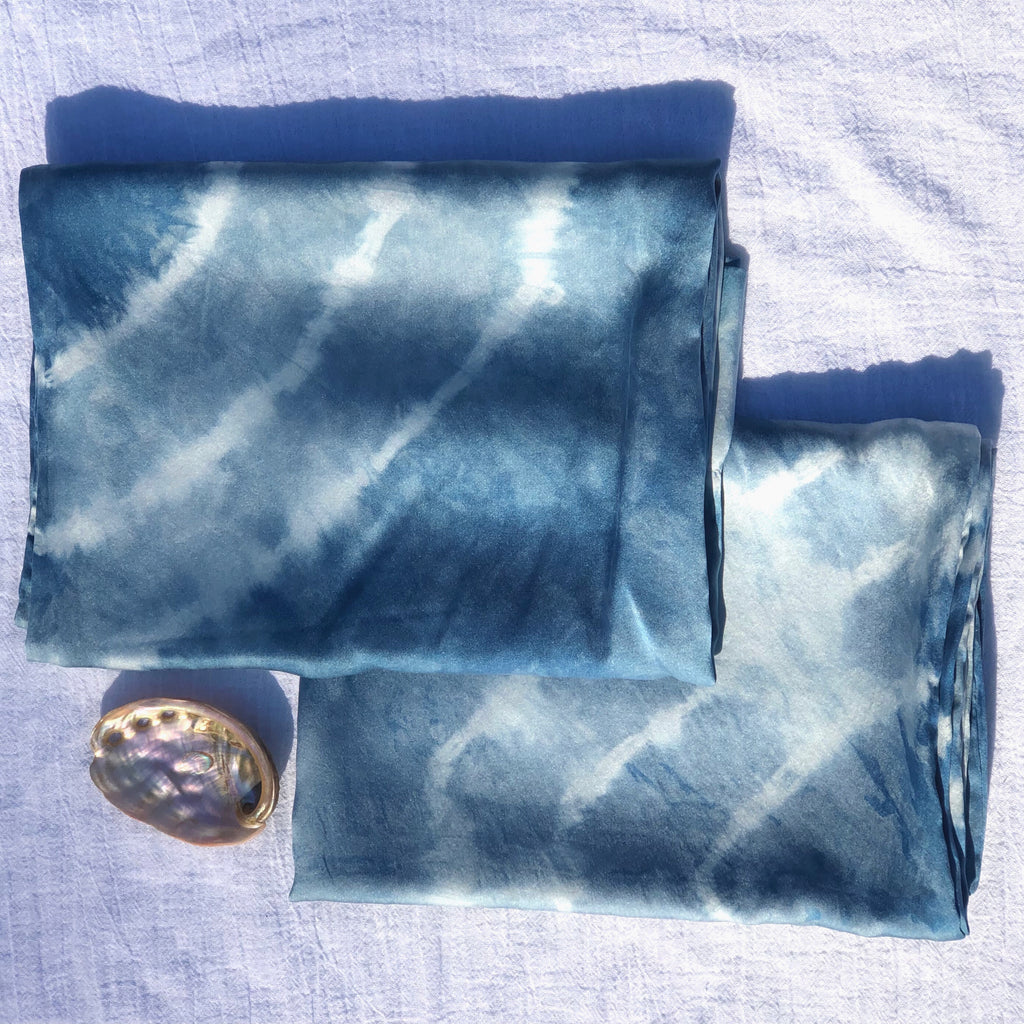 Indigo Silk Pillowcase Set