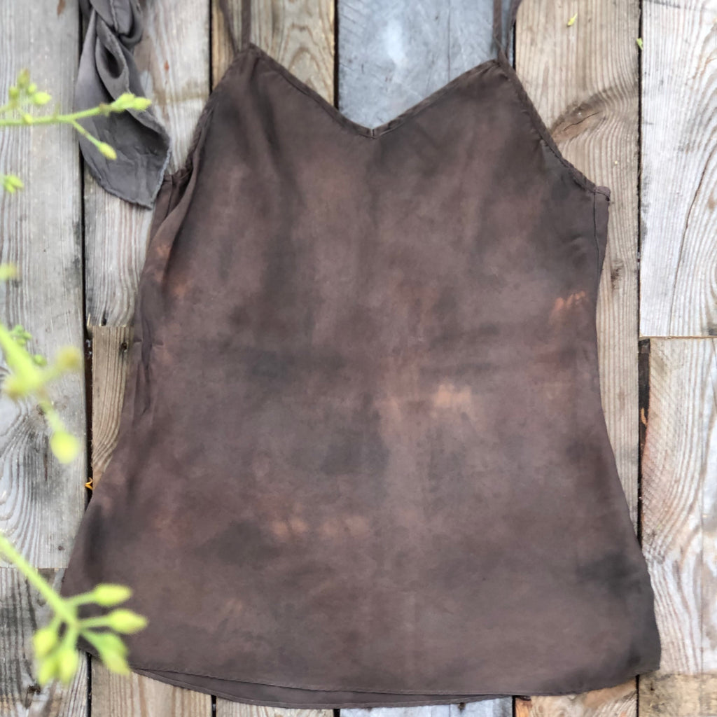Natural Dyed Silk Camisole (S))
