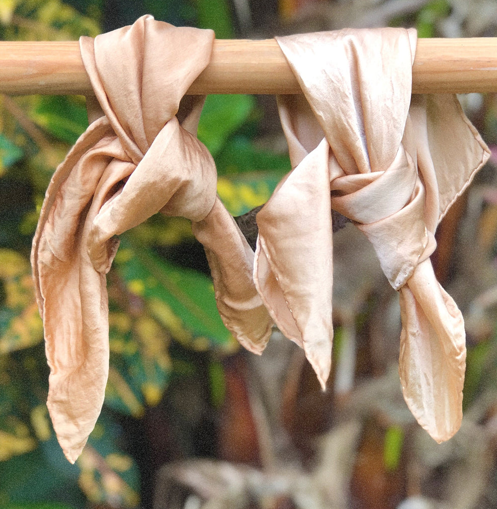 Naturally Dyed Silk Handkerchief/Scarf (S)