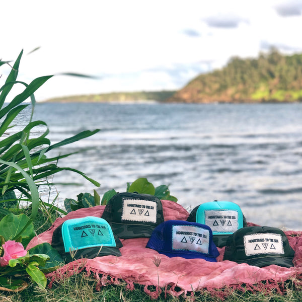 Mountains to the Sea Patch Trucker Hats