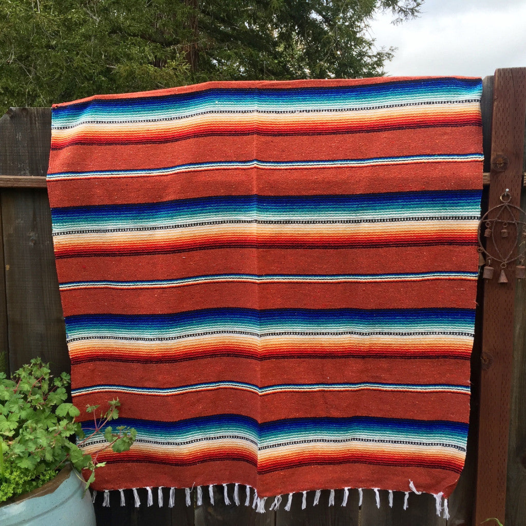 Mexicana Blanket (Rust)  *