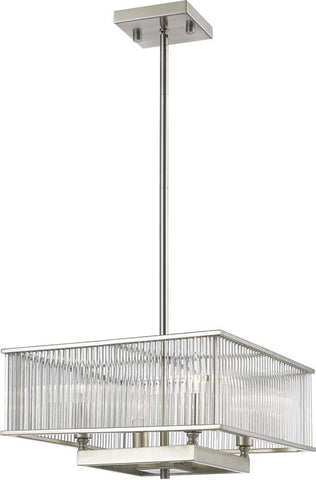 Z-Lite 1000-16BN 4 Light Pendant Zalo Collection Clear Finish - ZLiteStore