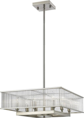 Z-Lite 1000-22BN 8 Light Pendant Zalo Collection Clear Finish - ZLiteStore