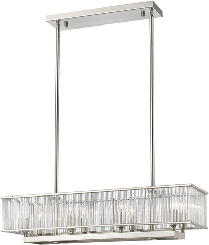 Z-Lite 1000-32BN 8 Light Pendant Zalo Collection Clear Finish - ZLiteStore