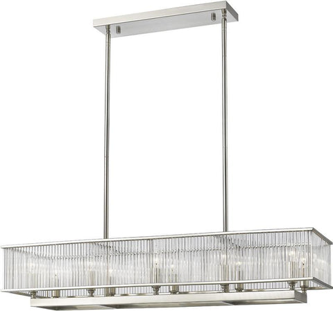 Z-Lite 1000-42BN 10 Light Pendant Zalo Collection Clear Finish - ZLiteStore