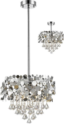 Z-Lite 1001-20CH 6 Light Pendant Monaco Collection Chrome Finish - ZLiteStore
