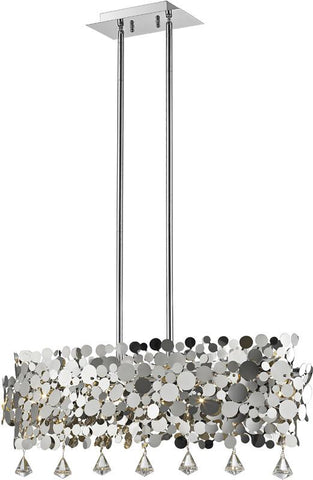 Z-Lite 1001-32CH 6 Light Pendant Monaco Collection Chrome Finish - ZLiteStore