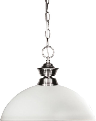 Z-Lite 100701BN-DMO14 1 Light Pendant Shark Collection Dome Matte Opal Finish - ZLiteStore