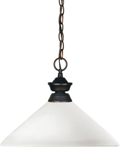 Z-Lite 100701OB-AMO14 1 Light Pendant Shark Collection Angle Matte Opal Finish - ZLiteStore