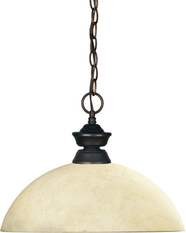 Z-Lite 100701OB-DGM14 1 Light Pendant Shark Collection Dome Golden Mottle Finish - ZLiteStore