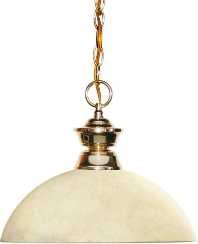 Z-Lite 100701PB-DGM14 1 Light Pendant Shark Collection Dome Golden Mottle Finish - ZLiteStore