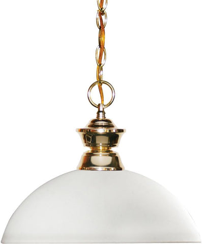 Z-Lite 100701PB-DMO14 1 Light Pendant Shark Collection Dome Matte Opal Finish - ZLiteStore
