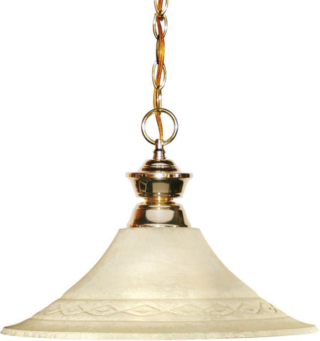 Z-Lite 100701PB-FGM16 1 Light Pendant Shark Collection Fluted Golden Mottle Finish - ZLiteStore