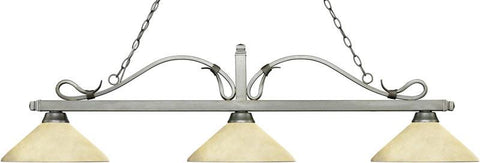 Z-Lite 114-3AS-AGM14 3 Light Billiard Light Melrose Collection Angle Golden Mottle Finish - ZLiteStore