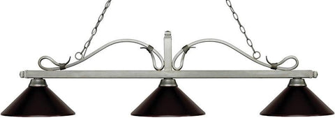 Z-Lite 114-3AS-MBRZ 3 Light Billiard Light Melrose Collection Bronze Finish - ZLiteStore