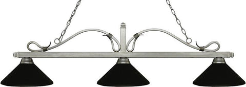 Z-Lite 114-3AS-MMB 3 Light Billiard Light Melrose Collection Matte Black Finish - ZLiteStore