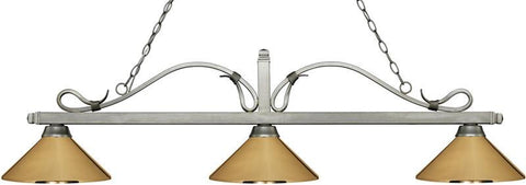 Z-Lite 114-3AS-MPB 3 Light Billiard Light Melrose Collection Polished Brass Finish - ZLiteStore