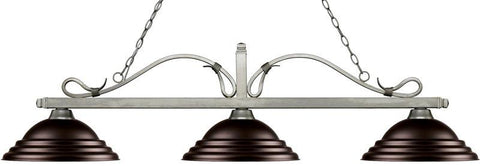 Z-Lite 114-3AS-SBRZ 3 Light Billiard Light Melrose Collection Stepped Bronze Finish - ZLiteStore