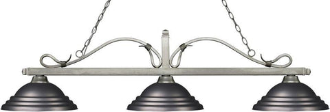 Z-Lite 114-3AS-SOB 3 Light Billiard Light Melrose Collection Stepped Olde Bronze Finish - ZLiteStore