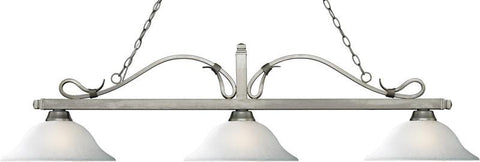 Z-Lite 114-3AS-WL16 3 Light Billiard Light Melrose Collection White Linen Finish - ZLiteStore