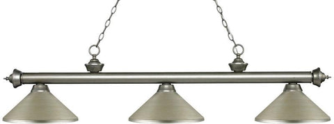 Z-Lite 200-3AS-MAS 3 Light Billiard Light Riviera Antique Silver Collection Antique Silver Finish - ZLiteStore
